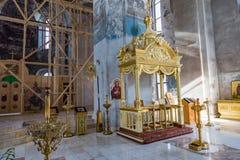 La catedral de la epifanía del siglo XIX en Uglich, Rusia Imagen de archivo