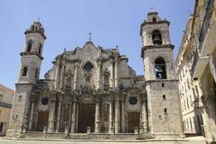 La catedral de La Habana en Cuba imagen de archivo