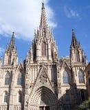La Catedral de la Santa Cruz y Santa Eulalia Stock Photography