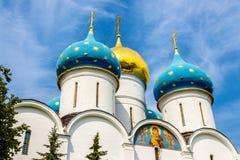 La catedral de la suposición de la trinidad Lavra Foto de archivo libre de regalías