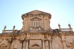 La catedral de la suposición, Dubrovnik Imágenes de archivo libres de regalías