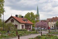 La catedral de Linköping Imágenes de archivo libres de regalías