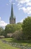 La catedral de Linköping Fotos de archivo libres de regalías