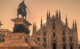 La catedral de Milano Fotografía de archivo libre de regalías
