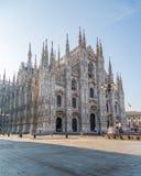 La catedral de Milano Imagen de archivo libre de regalías