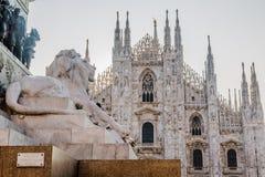 La catedral de Milano Fotos de archivo libres de regalías