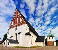 La catedral de Porvoo foto de archivo libre de regalías