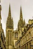La catedral de Quimper, Finistere, Bretaña, Francia Fotografía de archivo