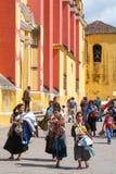 La catedral de San Cristobal de Las Casas en Chiapas foto de archivo