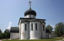 La catedral de San Jorge (1234). Rusia, región de Vladimir, Yuriev-Polsky. Imagen de archivo
