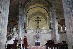 La catedral de San Leo en Italia Imagen de archivo libre de regalías