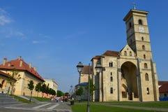 La catedral de San Miguel de Alba Iulia Imágenes de archivo libres de regalías