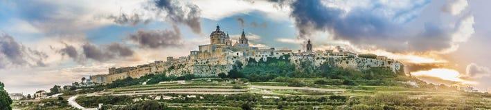 La catedral de San Pablo en Mdina, Malta fotos de archivo