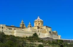 La catedral de San Pablo, Mdina Imagen de archivo