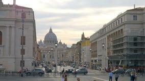 La catedral de San Pedro, Vaticano, Roma, Italia almacen de metraje de vídeo