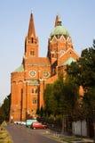 La catedral de San Pedro y de San Pablo en la ciudad de Dakovo en Croacia Fotos de archivo libres de regalías