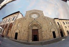 La catedral de Sansepolcro Fotos de archivo