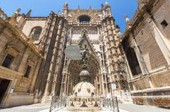 La catedral de Sevilla Foto de archivo libre de regalías