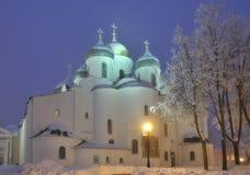La catedral de Sophia del santo, Novgorod Veliky Fotos de archivo