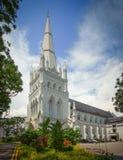 La catedral de St Andrew, Singapur Fotos de archivo libres de regalías