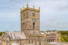 La catedral de St David, País de Gales Imagen de archivo
