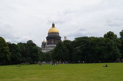 La catedral de St Isaac en St Petersburg Imágenes de archivo libres de regalías
