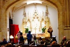 La catedral de St Patrick en Pascua 2019 116 imagen de archivo