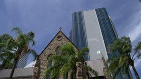 La catedral de St Stephen Brisbane céntrica metrajes