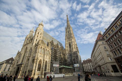 La catedral de St Stephen en Viena fotos de archivo libres de regalías