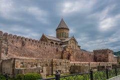 La catedral de Svetitskhoveli a partir del siglo XI Imagen de archivo libre de regalías