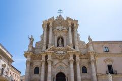 La catedral de Syracuse Duomo di Siracusa La iglesia famosa imagen de archivo