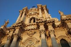 La catedral de Syracuse sicilia Foto de archivo libre de regalías