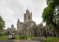 La catedral de la trinidad santa, iglesia de Cristo en Dublín, Irlanda fotografía de archivo