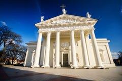 La catedral de Vilnius imágenes de archivo libres de regalías