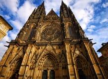 La catedral de Vitus del santo en Praga Foto de archivo libre de regalías