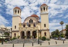 La catedral del — uno de Minas del santo de las catedrales principales de la ciudad de Heraklion imágenes de archivo libres de regalías