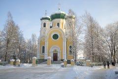 La catedral del día de San Pablo enero Gatchina fotos de archivo libres de regalías
