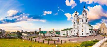 La catedral del Espíritu Santo en Minsk, Bielorrusia imagen de archivo libre de regalías