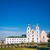 La catedral del Espíritu Santo en Minsk, Bielorrusia imagenes de archivo