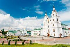 La catedral del Espíritu Santo en Minsk, Bielorrusia foto de archivo