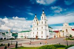 La catedral del Espíritu Santo en Minsk - la tubería Imagen de archivo
