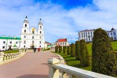 La catedral del Espíritu Santo - símbolo de Minsk, Bielorrusia foto de archivo libre de regalías
