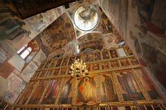 La catedral del interior de la suposición, Moscú el Kremlin Imagen de archivo