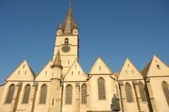 La catedral del Lutheran Santa María Sibiu Imagen de archivo