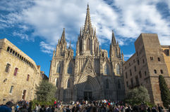 La Catedral del Mar in Barcelona Royalty Free Stock Photography