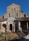 La catedral del oeste de la entrada de Santa Maria Assunta Imagenes de archivo