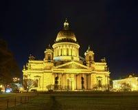 La catedral del ` s de Isaac del santo en St Petersburg, Rusia Fotos de archivo