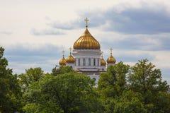 La catedral del salvador de Cristo de Moscú Imágenes de archivo libres de regalías
