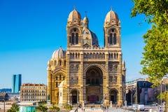 La catedral del santo Mary Major en Marsella Fotos de archivo