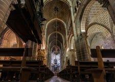 La catedral del SE de Evora, Portugal Foto de archivo libre de regalías